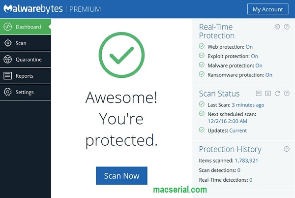 Malwarebytes Anti-Malware 3.5.1.2522 Crack + License Key Free!