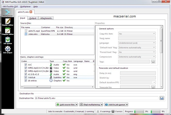 MKVToolnix 10.0.0 Final Plus Portable Free (32 & 64 Bit) Crack