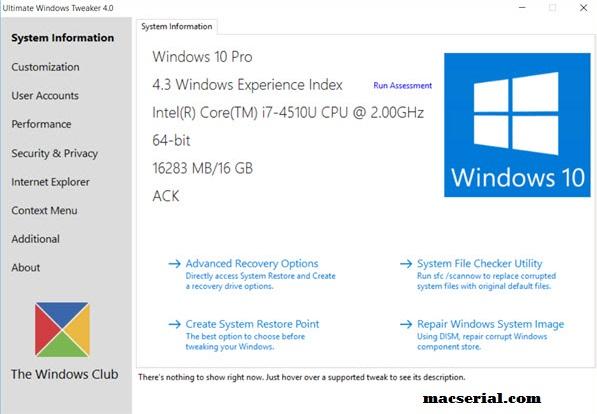 Ultimate Windows Tweaker 4.3.0.0 + Portable Free Here!