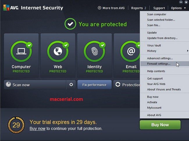AVG Internet Security 2018 Serial Key Till 2020