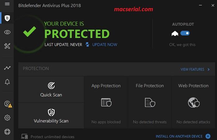 BitDefender Antivirus Plus 2018 Crack + Serial Key Free (Build 22.0.8.114)