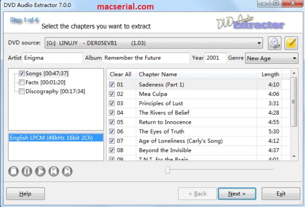 DVD Audio Extractor 7.5.1 Crack + License Key [Win/Mac] Download