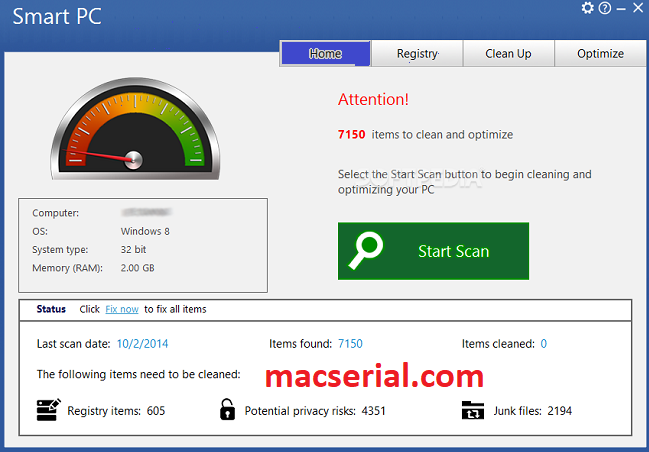 Smart PC Professional 6.2 Crack + Serial Key Latest Download