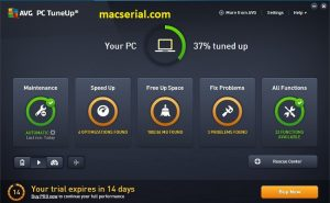 AVG PC TuneUp 2018 Crack + Product Key [Updated] Free Download