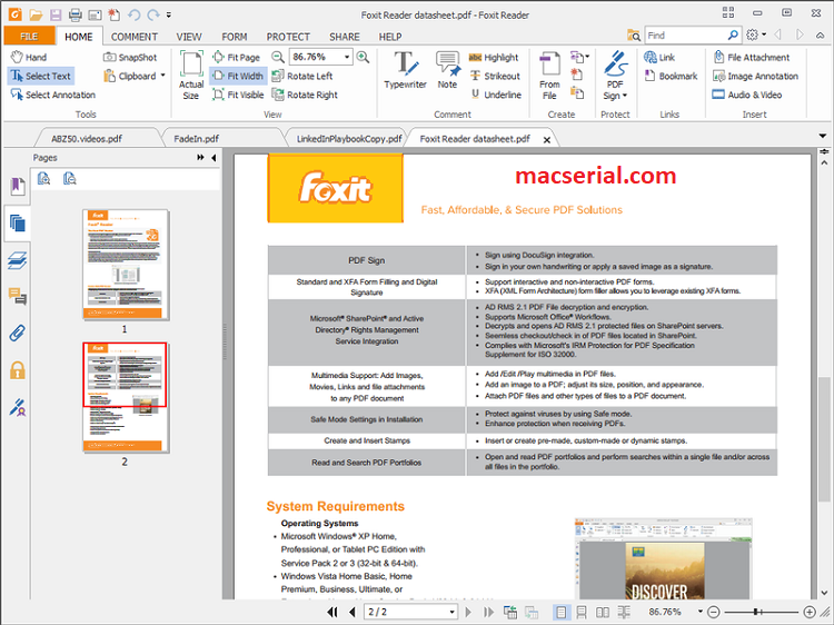 Foxit Reader 9.7.1 Crack + Activation Key Latest Download