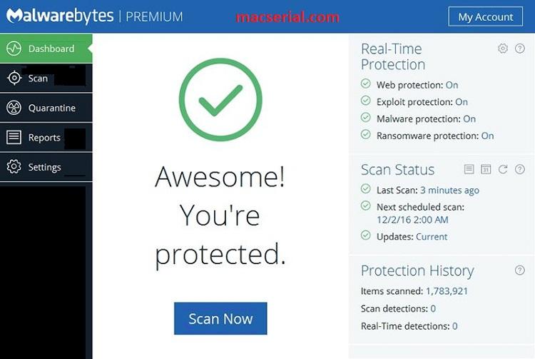 Malwarebytes Anti-Malware 3.5.1 Crack + Keygen 2018 Free Download