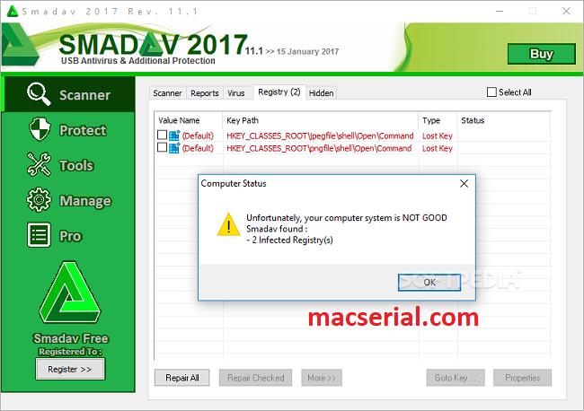 Smadav 2017 Rev. 11.6 Pro Serial Key + Crack Free Download